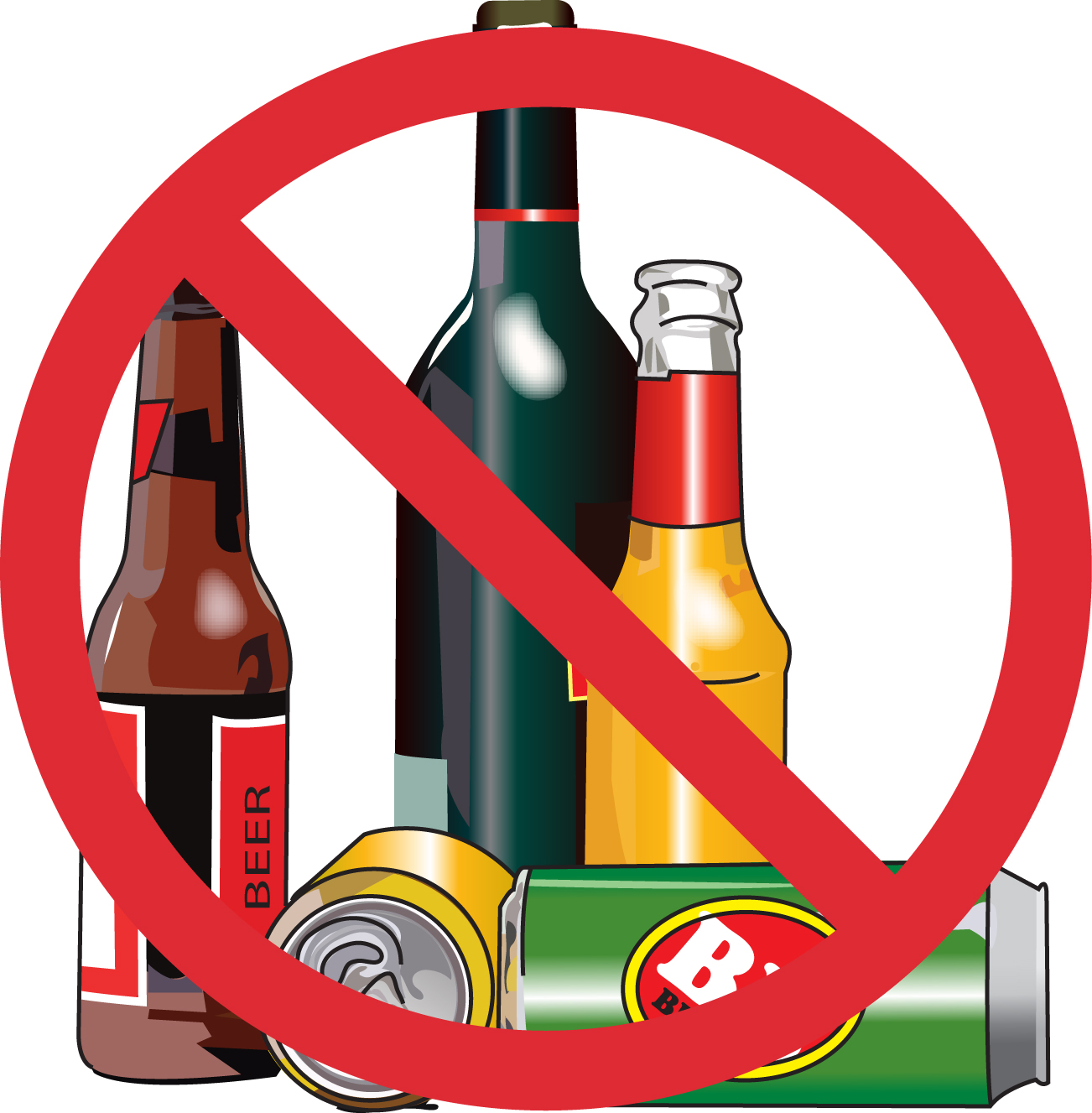 Avoid Alcohol Clipart.