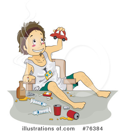 Effects of Alcohol Abuse Clip Art.