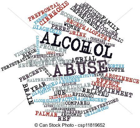 Alcohol abuse clipart.
