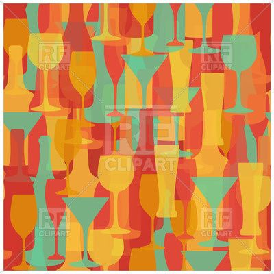 Alcohol drinks seamless pattern.