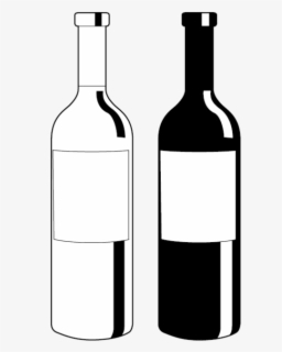 alcohol bottle clipart black and white #4
