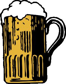 Foamy Mug Of Beer clip art.