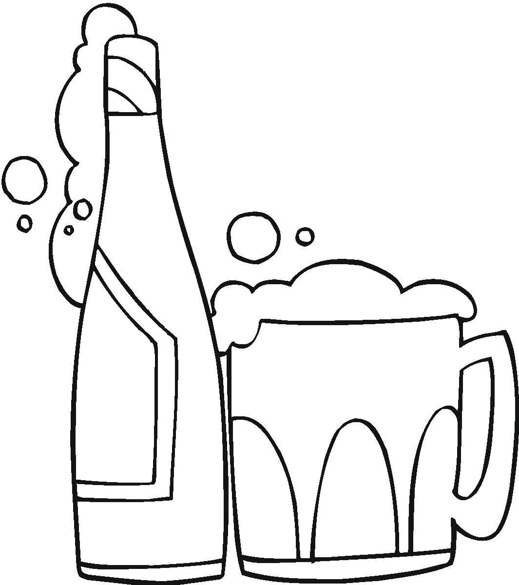 Alcohol clipart black and white 2 » Clipart Station.
