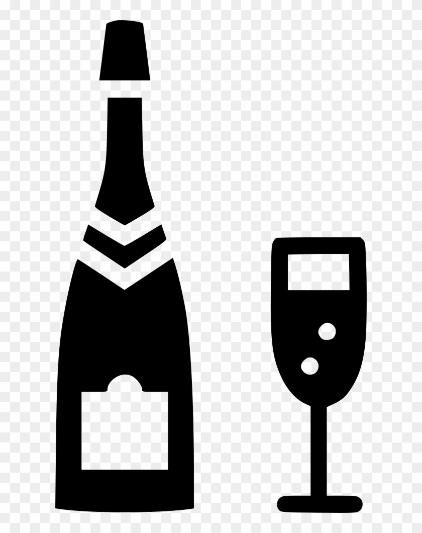 Png Black And White Glass Alcohol Bottle Celebrate.