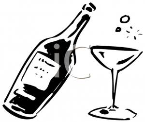 Alcohol clipart black and white 1 » Clipart Station.