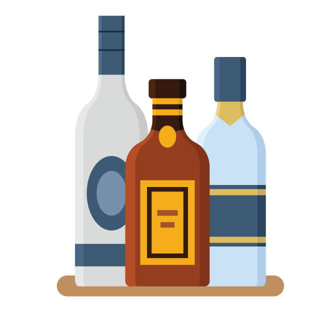 Bottles with alcohol clip art eps, ai file.