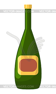 Champagne or Wine in Bottle, Alcohol Drink.