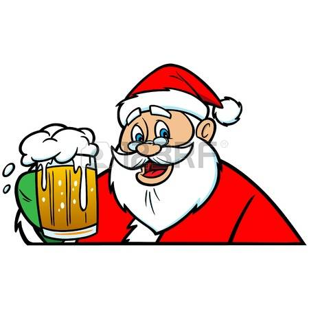Christmas beer clipart.