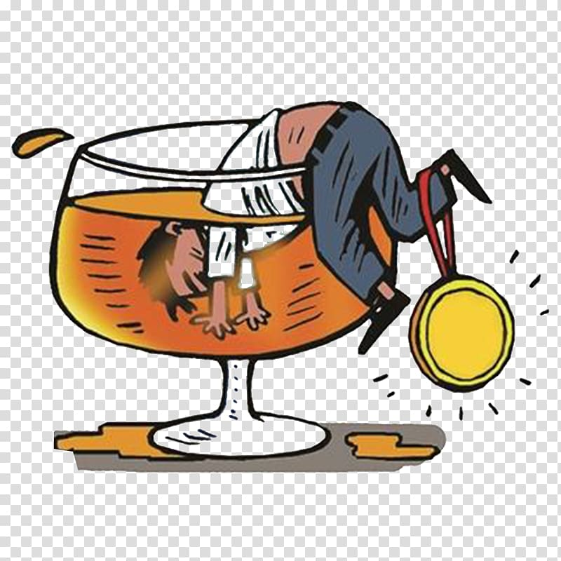 Man bending over glass wine illustration, Beer Alcoholic.