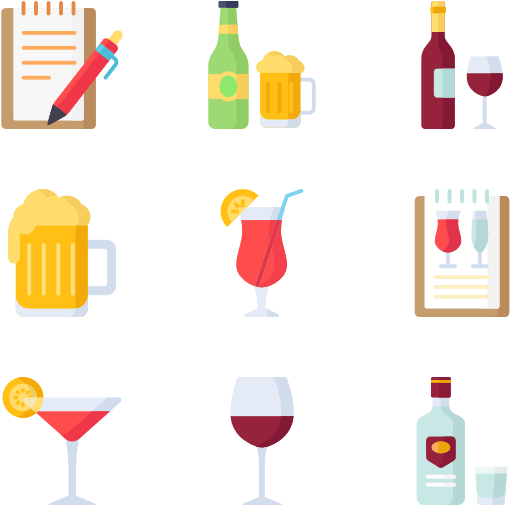 Alcohol Vector Alcoholic Drink , Transparent Cartoon.