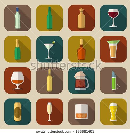 Alcohol Icon Stock Photos, Royalty.