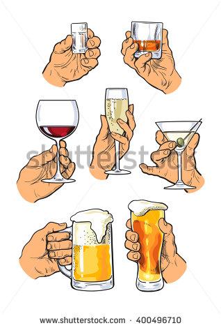 Drinking Alcohol Stock Photos, Royalty.