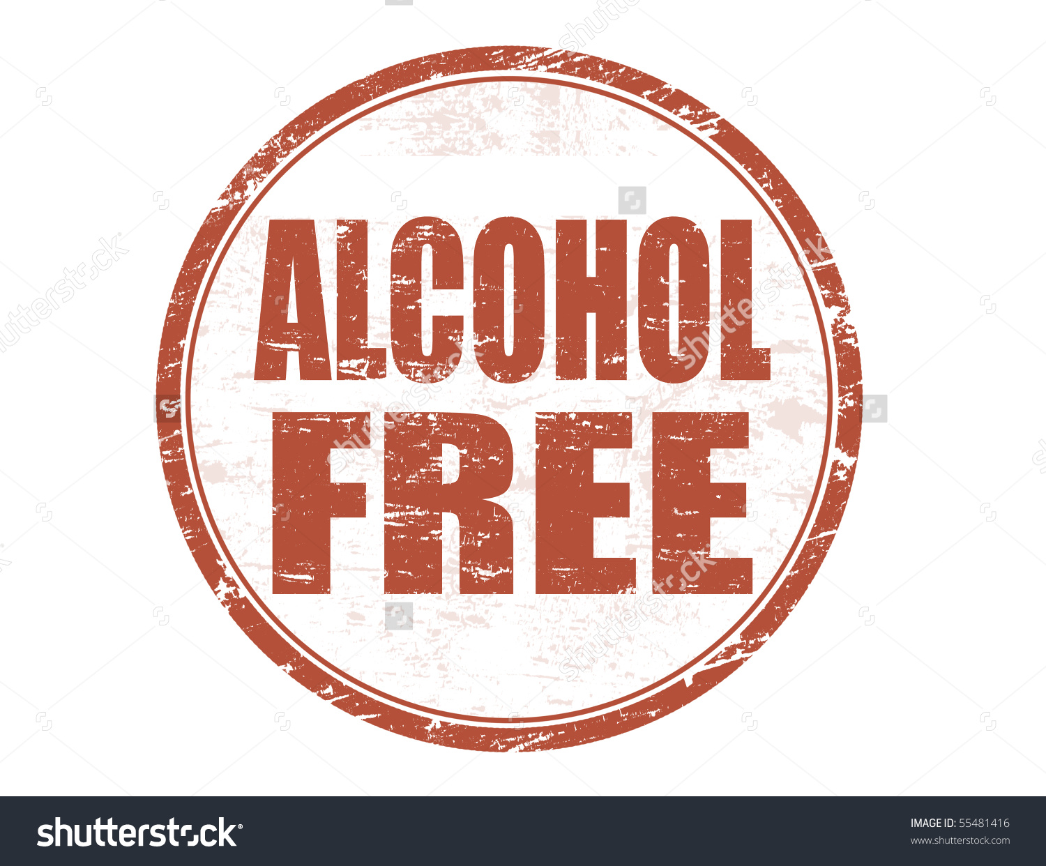 Grunge Stamp Text Alcohol Free Written Stock Vector 55481416.