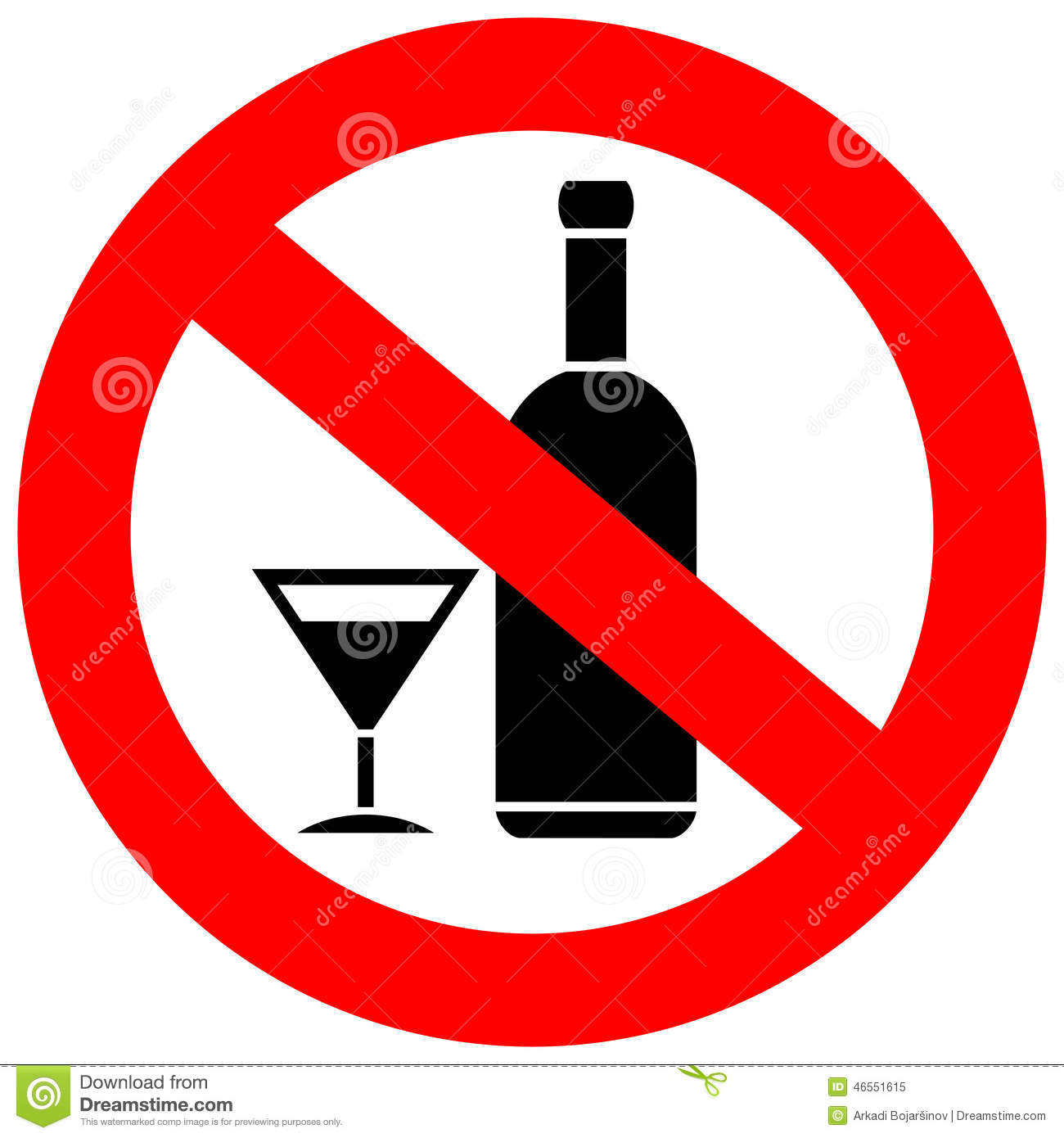 No Alcohol Clipart Free.