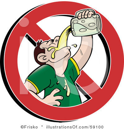 No Alcohol Clipart.