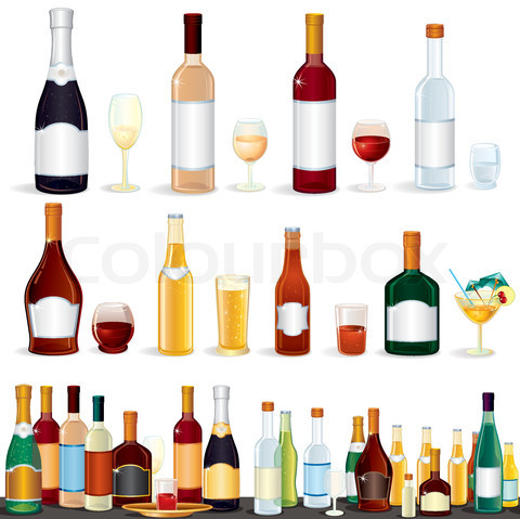 Alcoholic beverage clipart.