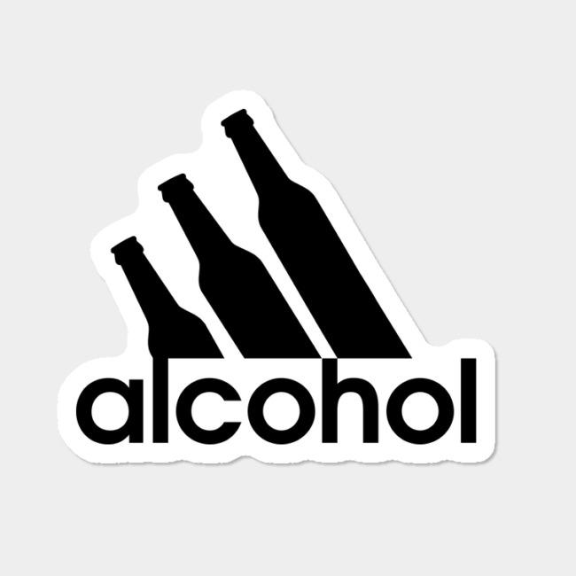 Alcohol Logo Parody Sticker By JJFDesigns Design By Humans.