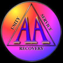 Alcoholics Anonymous symbol unity service recovery clip art.