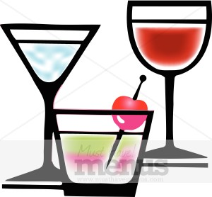 Cher's Alcoholic Drinks Clipart.