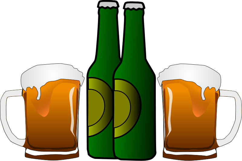 Clipart of Beer, Wine, Martinis and Other Alcoholic Cocktails.