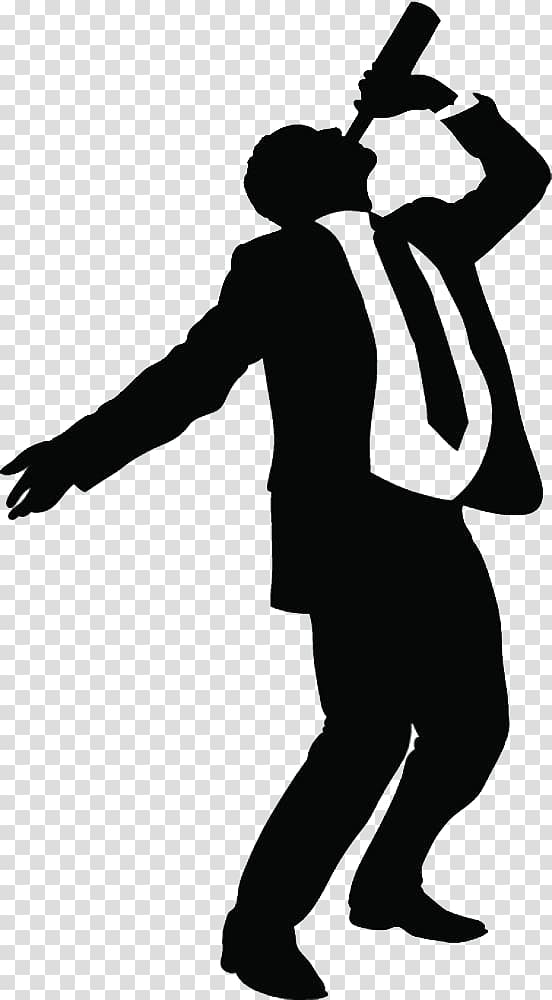 Man drinking illustration, Alcoholic drink , A silhouette of.
