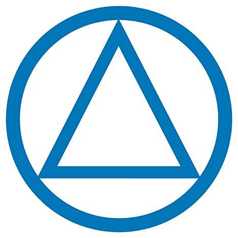 AA Alcoholics Anonymous Symbol.