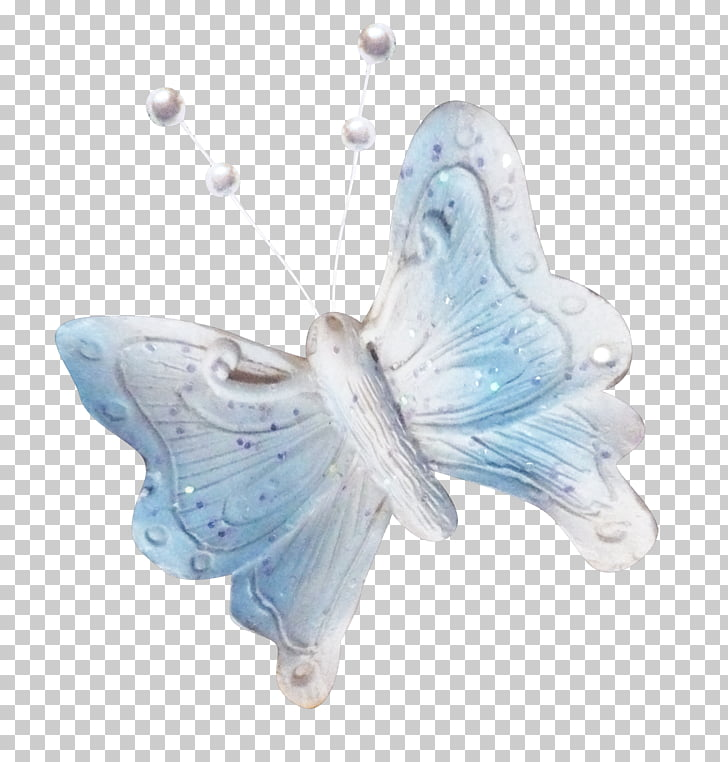 Butterfly Phengaris alcon, Beautiful blue butterfly PNG.