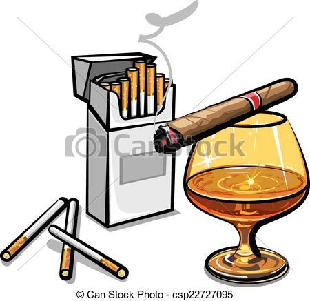 Vecteurs EPS de cigarettes, alcool.