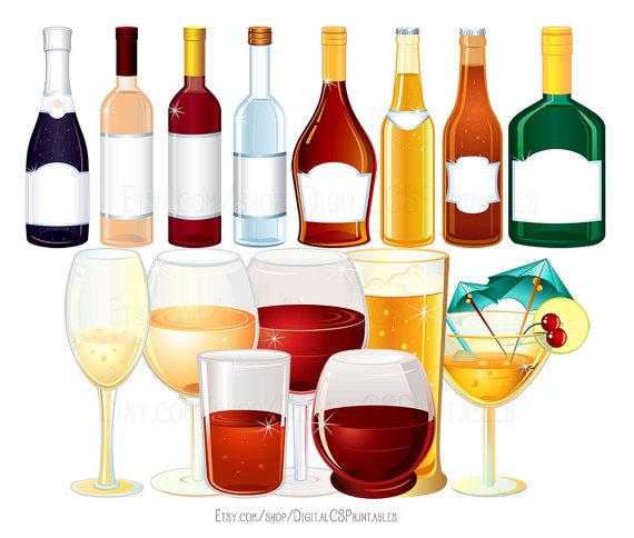 Boire clipart clipart vin alcool clipart par DigitalCSPrintables.