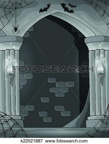 Clip Art of Black and white wall alcove k22521887.