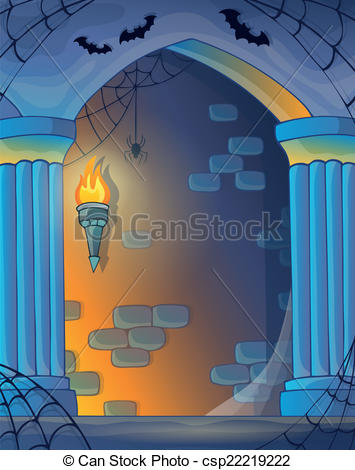 Vector Illustration of Wall alcove image 1.