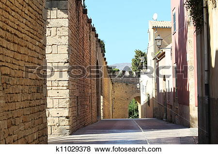 Stock Illustration of Old fortress in Alcudia k11029378.