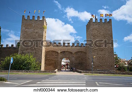 Stock Photo of Spain, Balearic Islands, Mallorca, Alcudia, City.