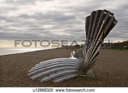 Stock Photography of England, Suffolk, Aldeburgh, The Scallop.