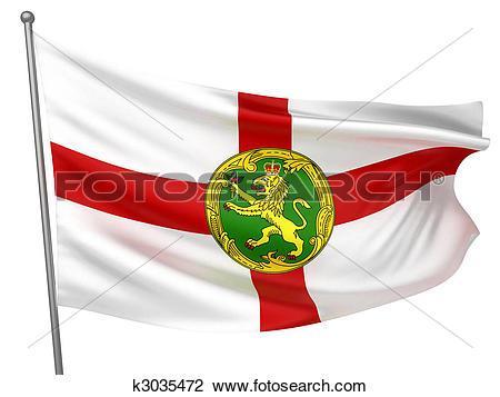 Clip Art of Alderney National Flag k3035472.
