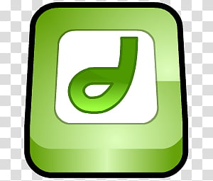 WannabeD Dock Icon age, Macromedia FreeHand, green.