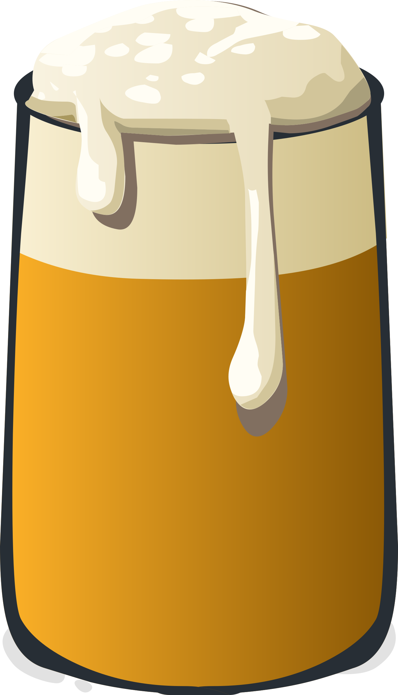 Ale Dripping with foam vector clipart.