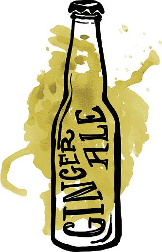 Ginger beer clipart.