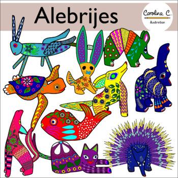 Mexican Alebrijes Clip Art.