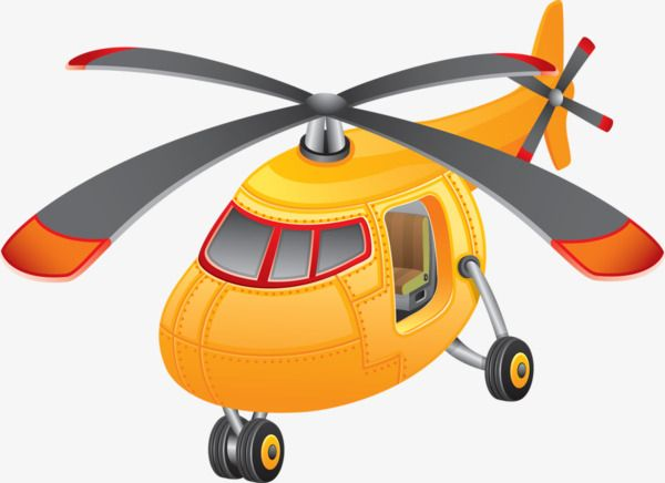 Gold Helicopter Clipart.