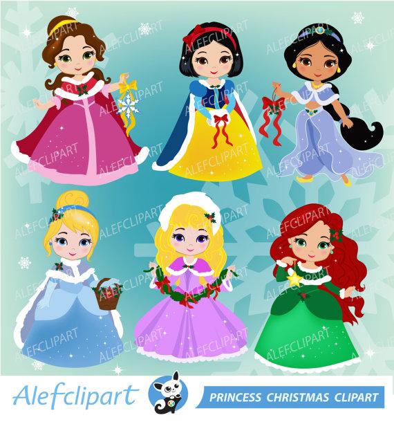 Princess Christmas Clipart.