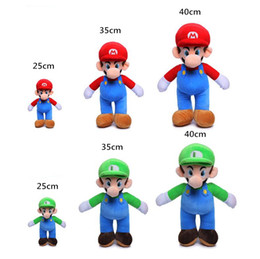 25cm 35cm 40cm Super Mario Bros Plush Toy Mario And Luigi Stuffed Animals  Plush Toys Super Mario Plush Dolls Kids Xmas Gift.