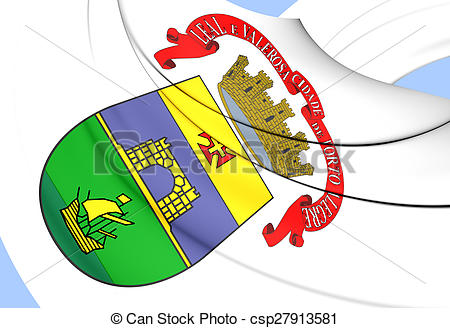 Stock Illustration of Flag of the Porto Alegre, Brazil..