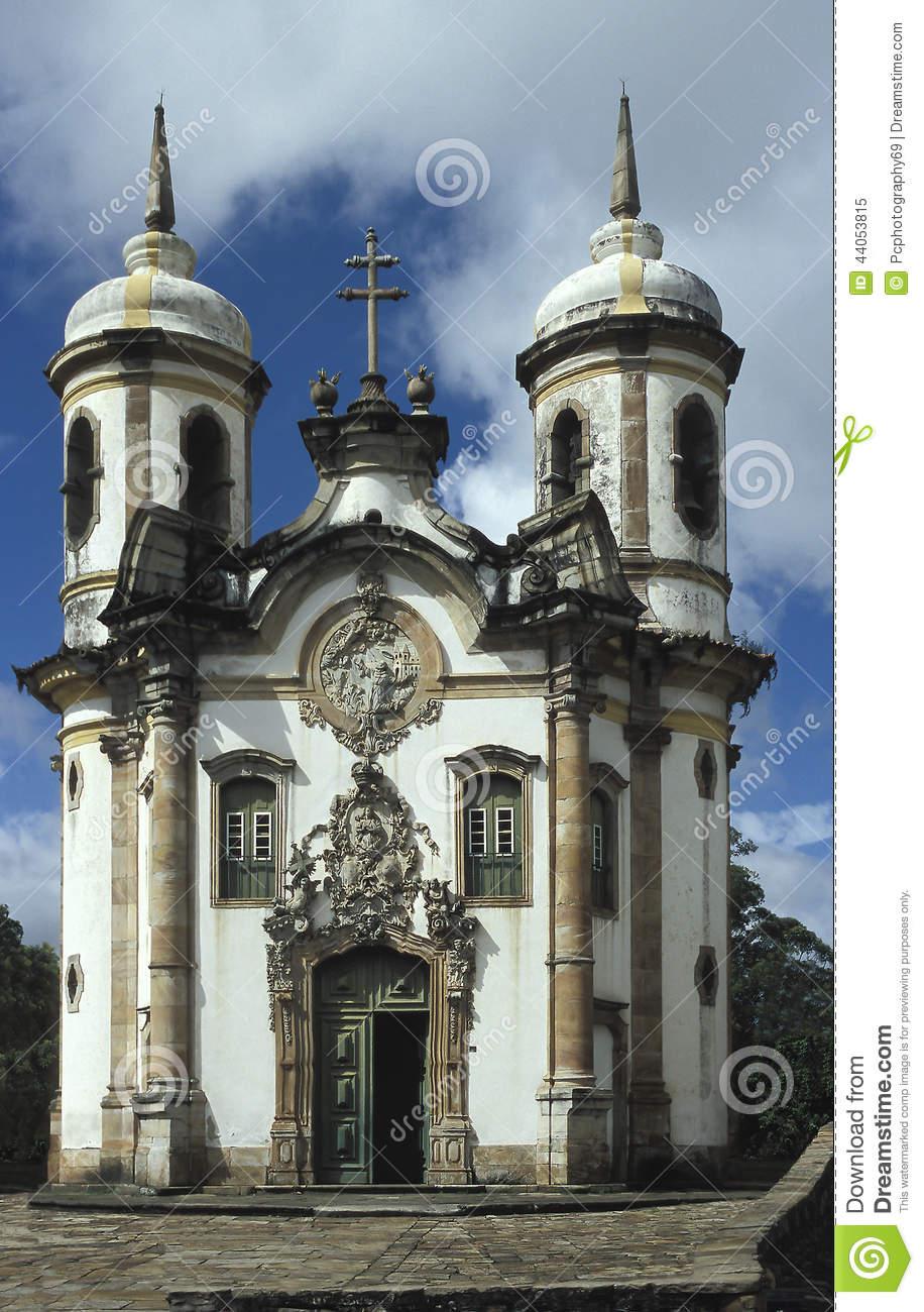 Church Of São Francisco By Aleijadinho In Ouro Preto, Brazil.