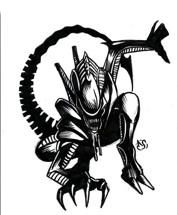 Alien clipart xenomorph, Alien xenomorph Transparent FREE.
