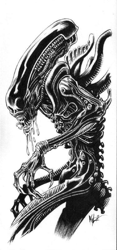 Alien artwork on Clipart library.