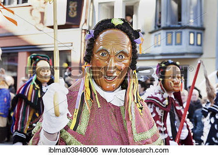 "Stock Images of ""Narrensprung festival, Rottweiler Fastnacht."