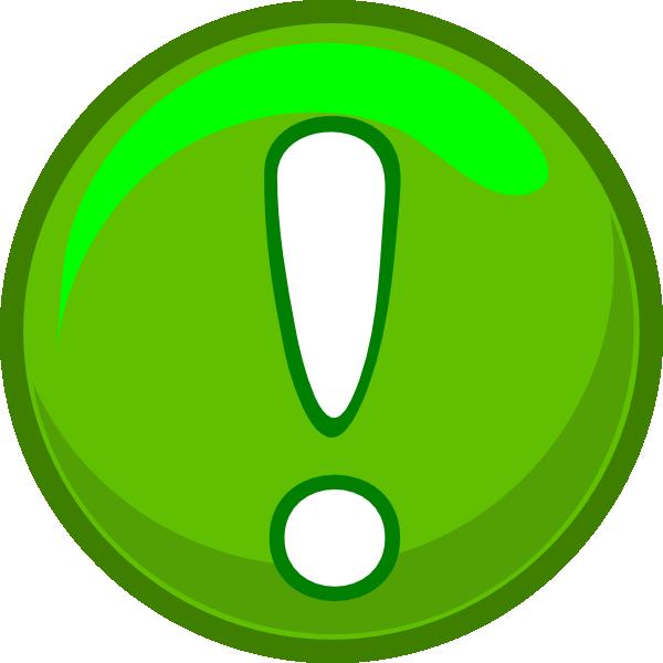 Green Alert Icon Clip Art #1572.