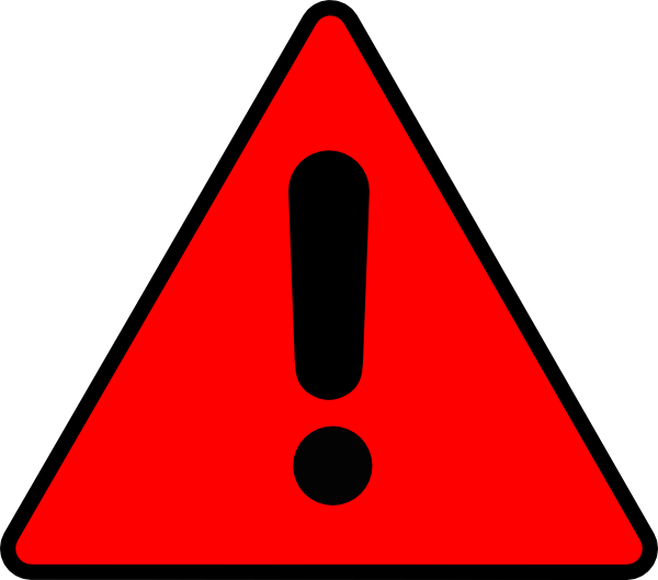 Warning clip art free clipart images 6.