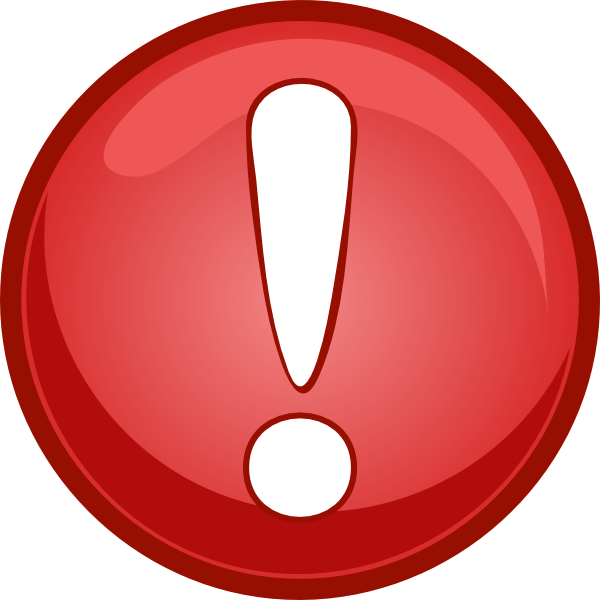 Alert Icon Red Clip Art , royalty #1552.